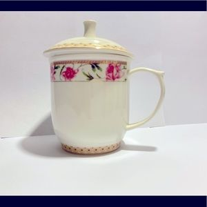 coffee tea mug with top cover 1 piece
